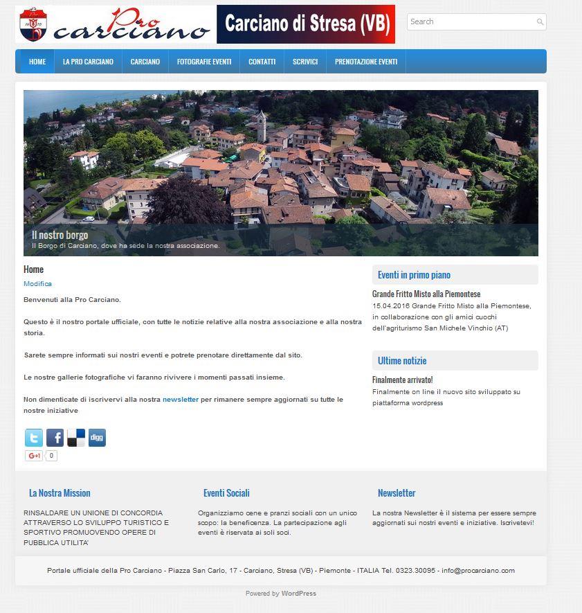 Nuovo sito Procarciano